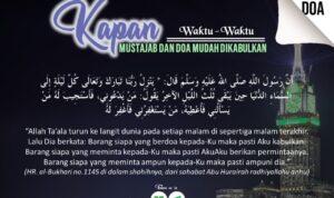 Kapan Waktu-Waktu Mustajab dan Doa Mudah Dikabulkan