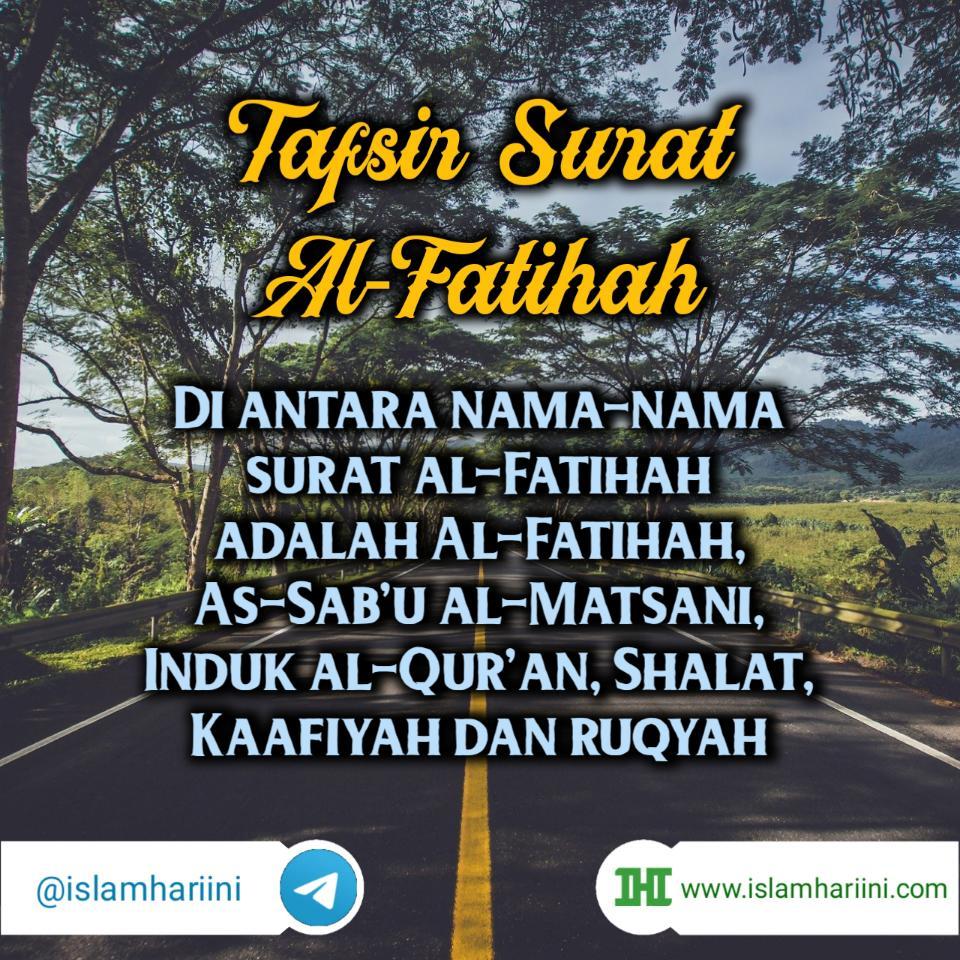 Tafsir Surat Al Fatihah