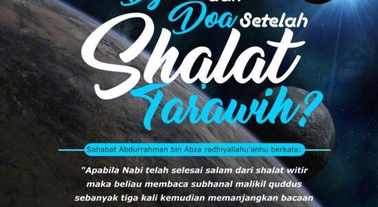 Bacaan Dzikir Setelah Shalat Tarawih